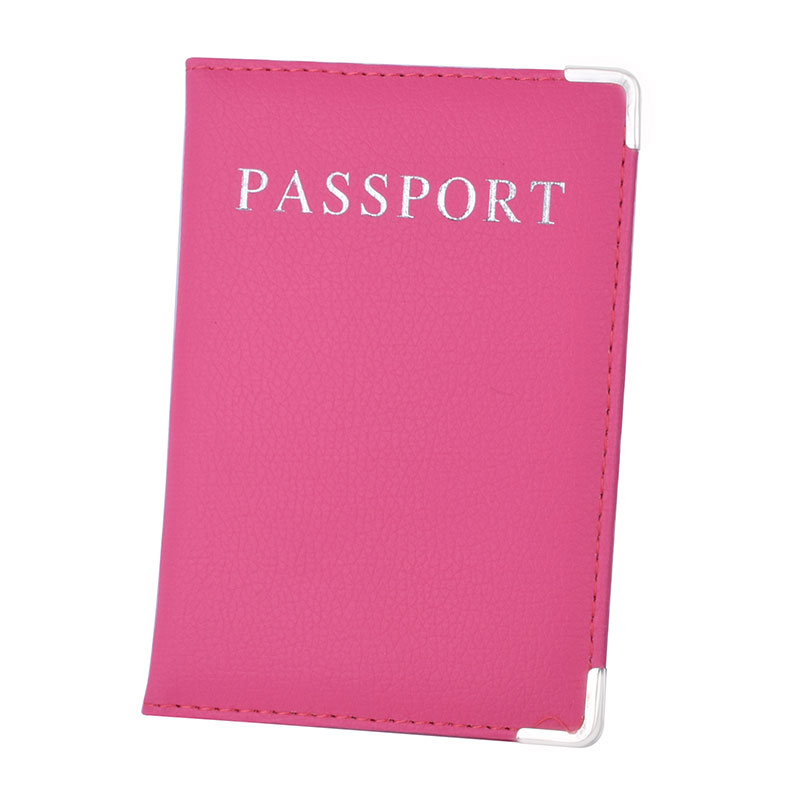 PU Leather Passport Cover Cute Business Card Holder Pouch for Travel ...