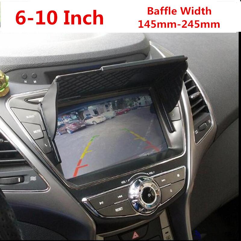 Universal Car GPS Navigator Sun Visor Sunshade Screen Hood Visor Navigator Companion Display Light Barrier Free Shipping