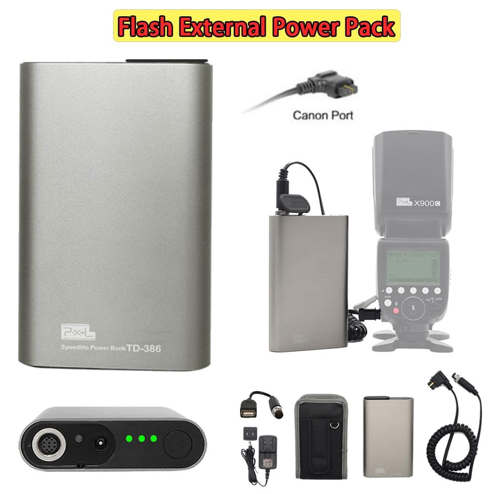 INSEESI Pixel TD-386 Per Canon Yongnuo YN560IV Pixel o altre attrezzature USB portHigh Qualità Flash Esterno Power Battery Pack