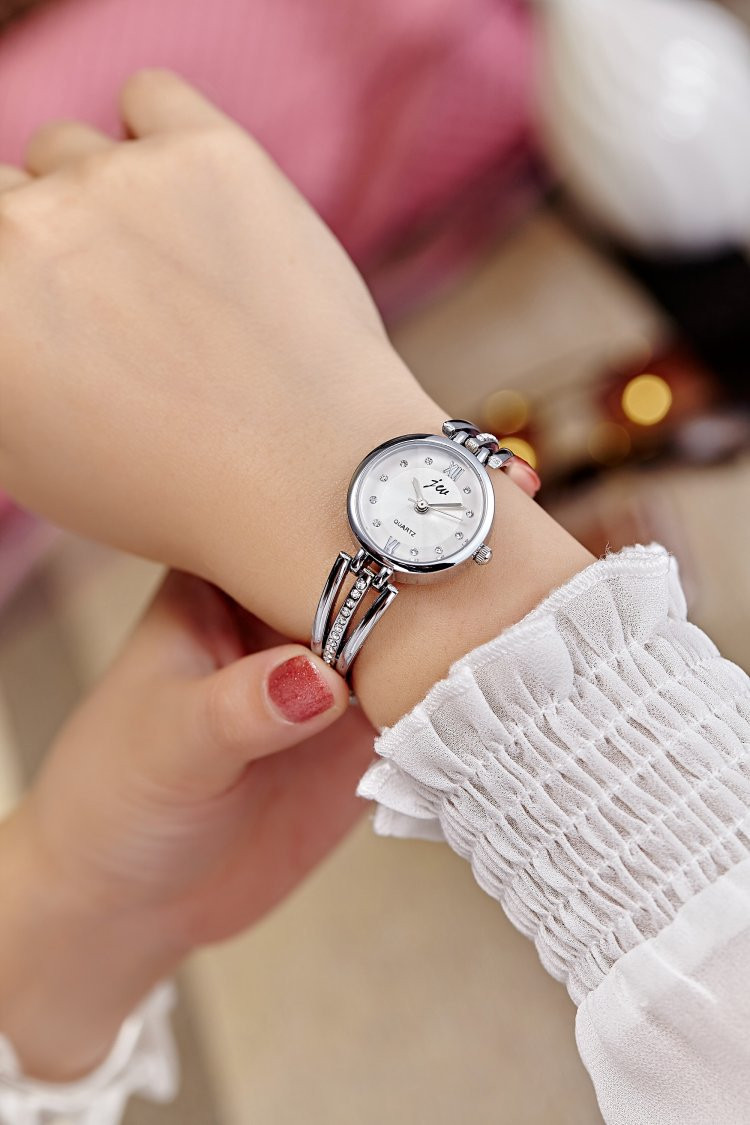 New Fashion Rhinestone Watches Women Luxury Brand Stainless Steel Bracelet watches Ladies Quartz Dress Watches reloj mujer AC070 7