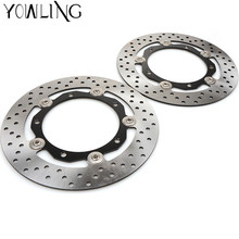 1Pair Front Brake Disc Rotors For Yamaha 2013 2014 2015 2016 T-max XP530 14 15 Tmax530 T-MAX 530 Front Brake Disc Brake Rotors stark armer disc 2014