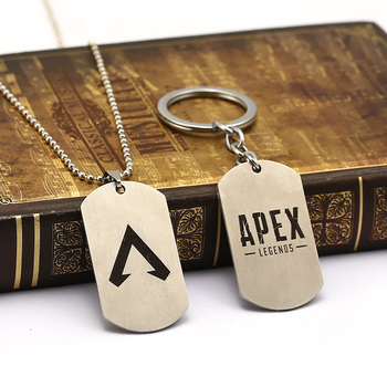 Game Apex legends Necklace Keychains metal Action Toys Stainless steel apex Key chain Kids Toys 1