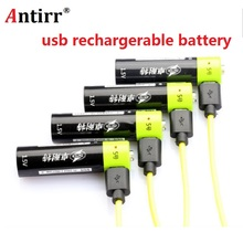 ZNTER AA Rechargeable Battery 1.5V 2A 1250mAh USB Charging Lithium Battery Bateria with Micro USB Cable
