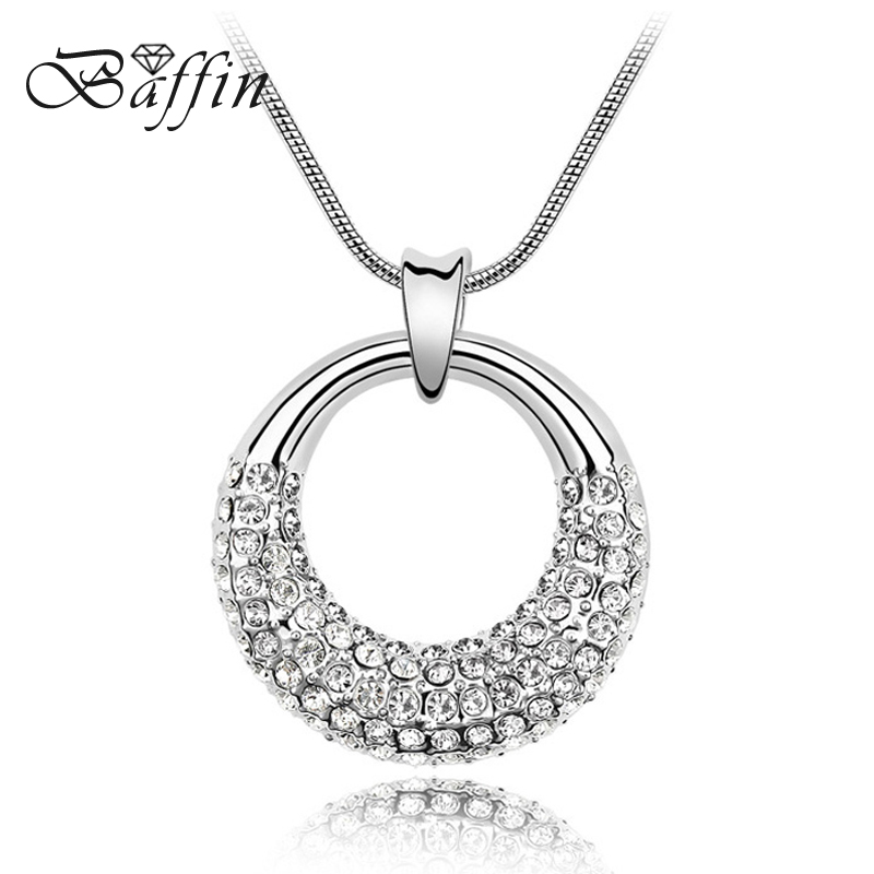 Baffin Elegant Fashion Chain necklace Made With Austria Elements Crystal Pendant Necklace For Women Birthday Gift yoursfs heart necklace for mother s day with round austria crystal gift 18k white gold plated