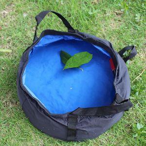 Image 1 - 8.5L Outdoor Folding Camping Waschbecken Angeln Reise Picknick Wasser Halter Tasche Ultra licht Becken Eimer Tragbare Überleben Werkzeug