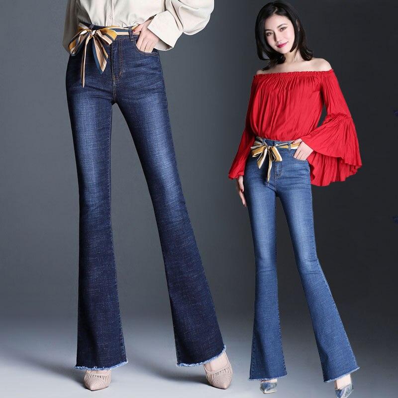 Korean Fashion Jeans with High Waist Print Casual 2019