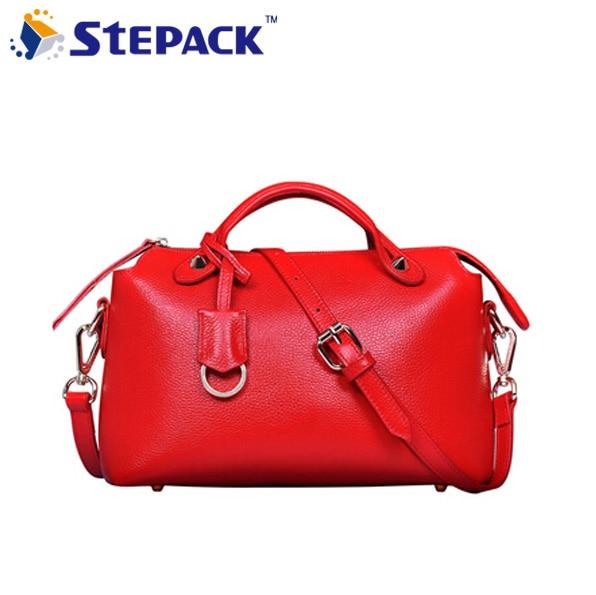 [5 Colors] Genuine Leather Women Handbag Shoulder Bags Sweet Messenger Bag Fashion Tassel Bolsas Wholesale Price WBG1051