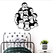 Fashionable Penguins Waterproof Wall Stickers Art Decor Kids Room Nature Decal stickers muraux