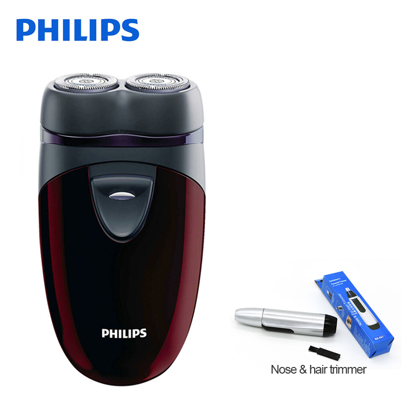 100% Original Philips Electric Shaver PQ206 With Two Floating Heads AA Battery Facial Contour Tracking For Men's Electric Razor philips s551 electric double heads 3d shaver