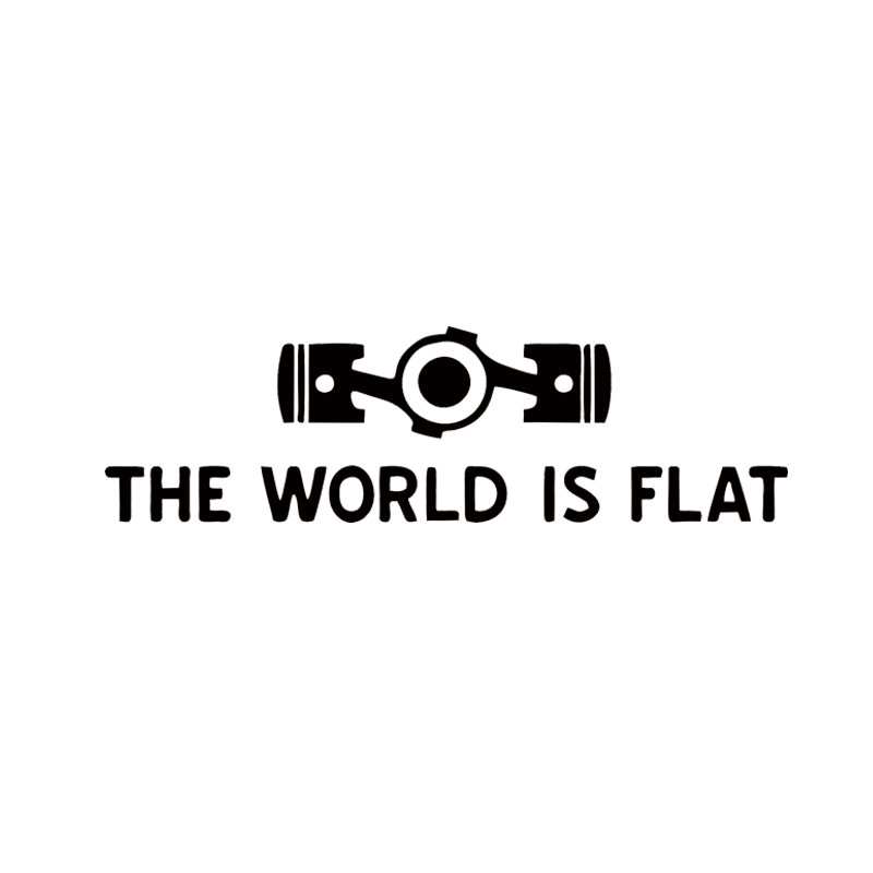 2017 Hot Sale Car Stying The World Is Flat Personality Style Vinyl Graphics Decals Car Decorative Jdm
