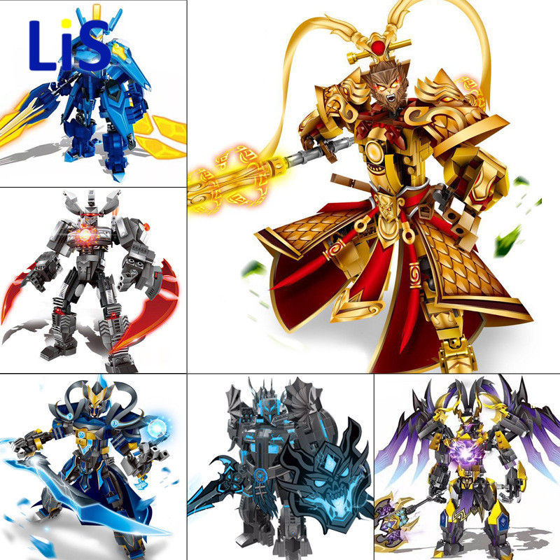 Avengers Super Heros Bionicle Building Blocks Romance of the Three Kingdoms Heroes Lv Bu Assemble Brick Kid Toys sluban 0267 new romance of the three kingdoms battle of jingzhou building block set 3d construction brick gift toys diy