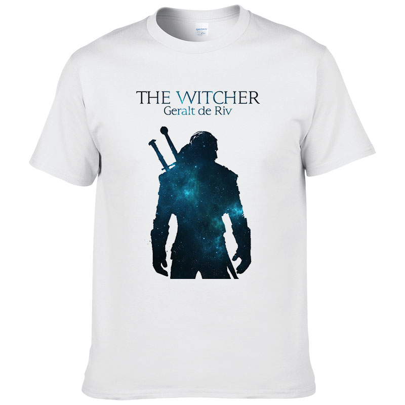 The Witcher 3   T     Shirt   Summer Men Women Cotton Short Sleeve the witcher   t  -  shirt   Geralt de Riv Men Clothing Tops Tee #154