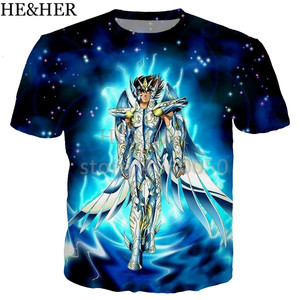 New cool Saint Seiya Bronze Shield t shirt men women 3D print fashion short sleeve tshirt streetwear casual summer tops funny(China)