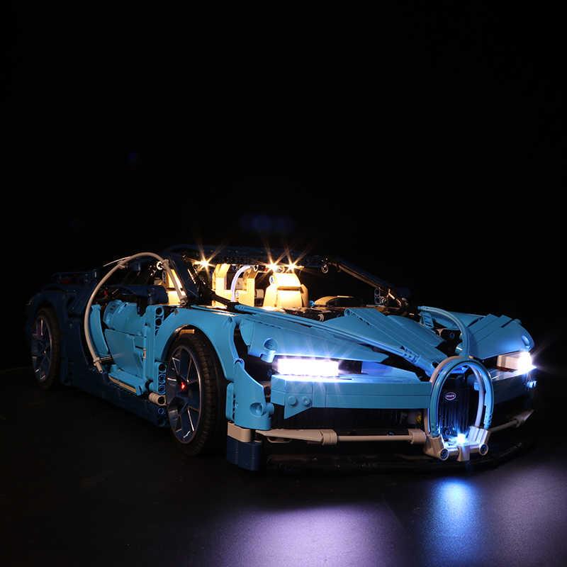 Zestaw światła led do Lego 42083 kompatybilny 20086 bugatti chiron technic samochód wyścigowy klocki prezenty (tylko światło + opakowanie na baterie)