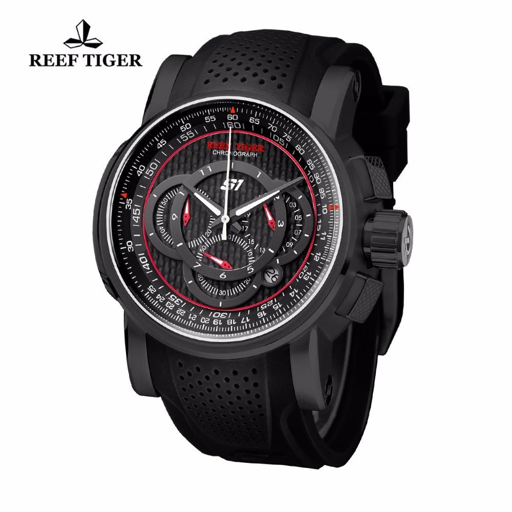 Reef Tiger / RT Sport quartz horloge met chronograaf datum Zwart - Herenhorloges - Foto 2