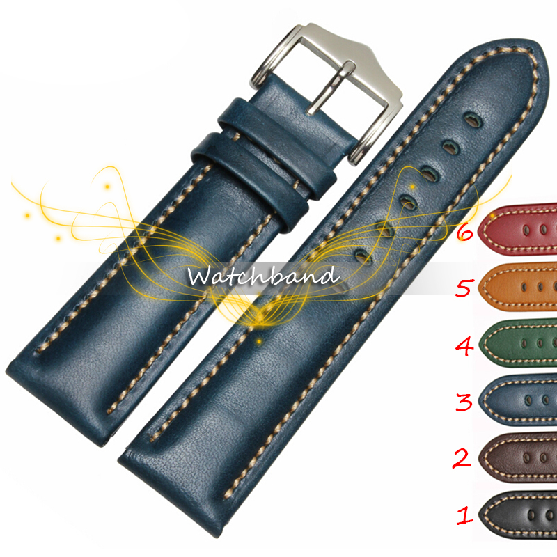 New Arrival Free shipping Black Brown Genuine Leather Watchband 18 20 22mm Men Watch Strap Band wholesale quartz watch strap band polished gold buckle new arrival brown watchband bracelet 20mm 2pcs free shipping