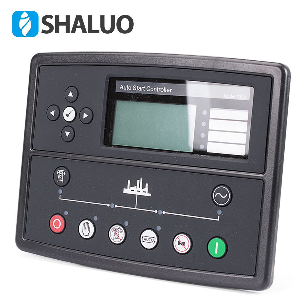 7320 generator led controller genset parts alternator control board pannel lcd display auto start remote electronic controller все цены