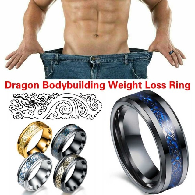 New Healthcare Weight Loss Fat Burning Ring Slimming Thin Waist Thin Abdomen Massager Anti-Cellulite Stainless Steel Ring Men