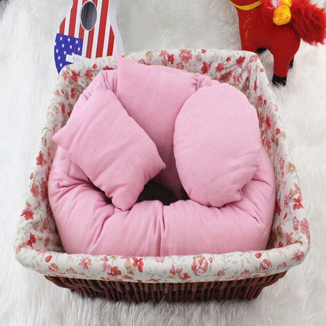 Baby Photography Basket Filler Pillows Plain Dyed Cotton Circle Accessoires For Photo Studio Background Photoframe Rim