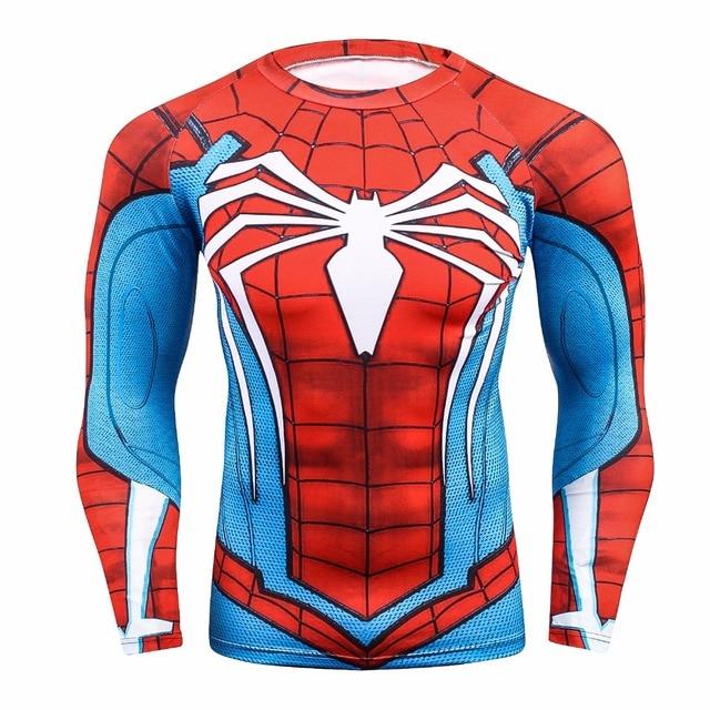 b208097afe Raglan Manga Do Homem Aranha 3D Impresso camisetas Homens Camisas De  Compressão 2017 NOVA Crossfit Tops