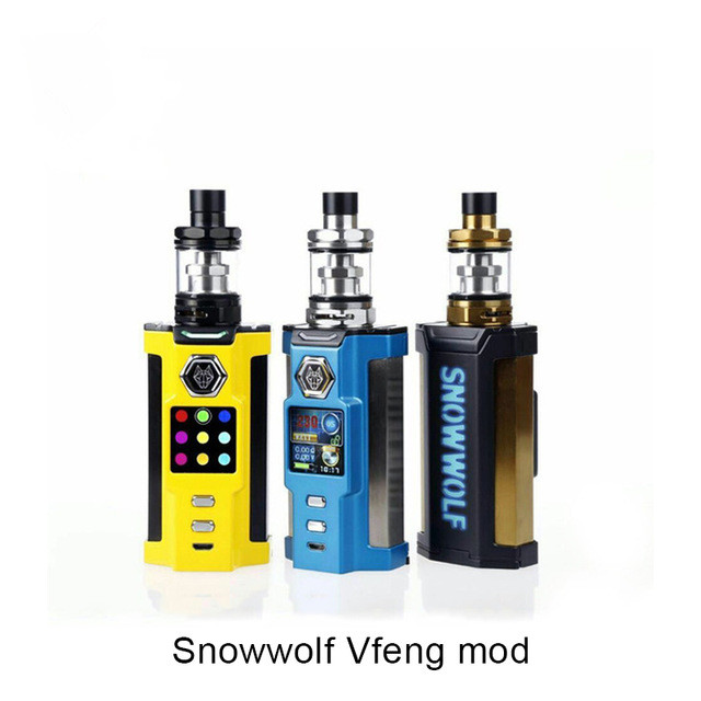 Vfeng MOD Original 230w New box MOD no 18650 battery electronic cigarette VS Sigelei Kaos 230w box MOD 2pcs new original lg hg2 18650 battery 3000 mah 18650 battery 3 6 v discharge 20a dedicated electronic cigarette battery power