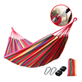 200*150cm Double Hammock 2 People Canvas Hamac Camping Survival Hamaca Widen Lengthen Garden Sleeping Hamak rede de dormir