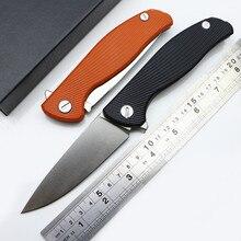 Verde espina hati 95 teniendo Flipper cuchillo plegable lámina D2 G10 mango De Acero EDC al aire libre de caza que acampa de bolsillo cuchillo de fruta herramientas
