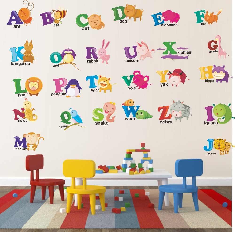 Abc Alphabet Wall Stickers Color Monkey