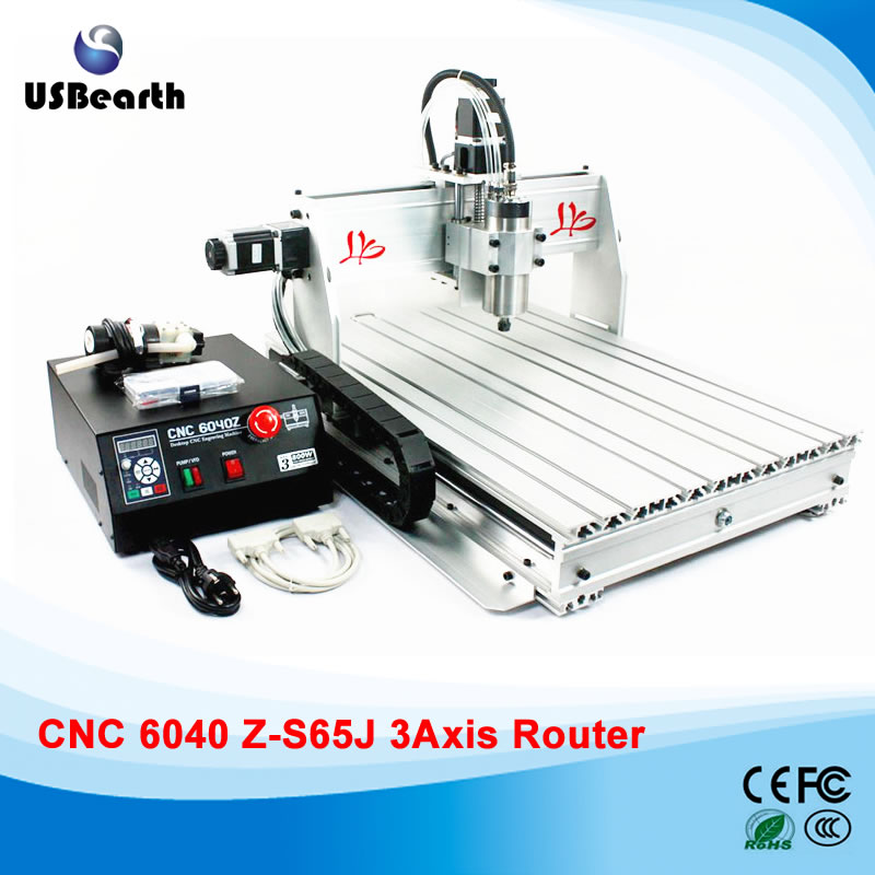 CNC Router 6040Z-S65J 800w water cooled spindle CNC Engraver, no tax to Russia free ship to russia no tax cnc 3040z s cnc engraving machine cnc router 3040 series water cooled engraver