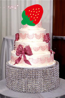 wedding crystal transparent acrylic Cake Stand Table Centerpiece 40cm Diameter by 20cm Tall 6pcs/lot