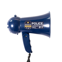 Portable Megaphone Pretend Play Kids policemans Bullhorn with Siren Sound. Handheld Mic Toy