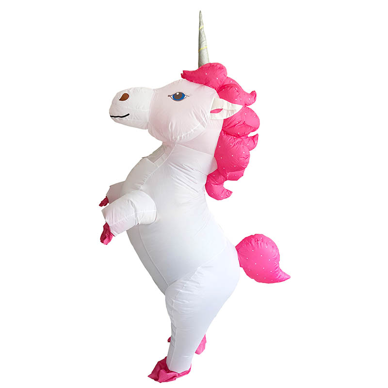 100% Kwaliteit Purim Opblaasbare Eenhoorn Paard Kostuum Voor Volwassen Partij Kostuum Carnaval Pak Festival Doek Christmas Gift Het Comfort Van Het Volk Aanpassen