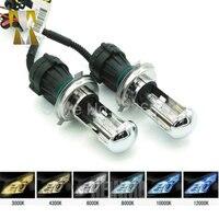 1Pair Bi Xenon 55W H4 Hi Low Beam 12V AC HID Automotive Headlight Replacement Bulb H4