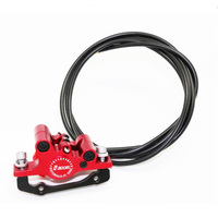 Zoom Mtb Line Pulling Hydraulic Disc Brake Electric Scooter Front And Rear Mountain Bike Ebike Road Oil Disc Brake Aluminum Disc