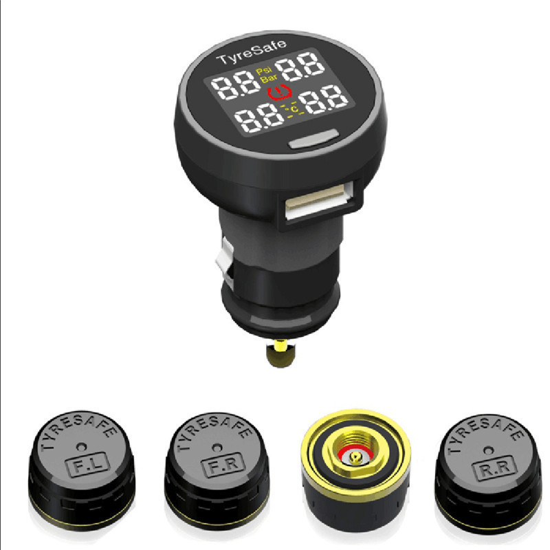 2017 Newest TP200 Wireless tpms Tire Pressure Monitor System tmps with cigarette charger External Sensor 2018 newest solar tpms newest technology car tire diagnostic tool with mini external sensor superior quality wireless tpms