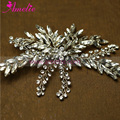 Victorian Handmade Silver Color CZ Rhinestones Wedding Hair Clip Hair Jewellery Side Bride Crystal Clips