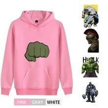 Marvel Superhero Hulk Cartoon Fashion Cotton  Men/woman outfit Hoodie Kangaroo Pocket Winter  Teen hoodie A193291 kangaroo pocket tie dye hoodie