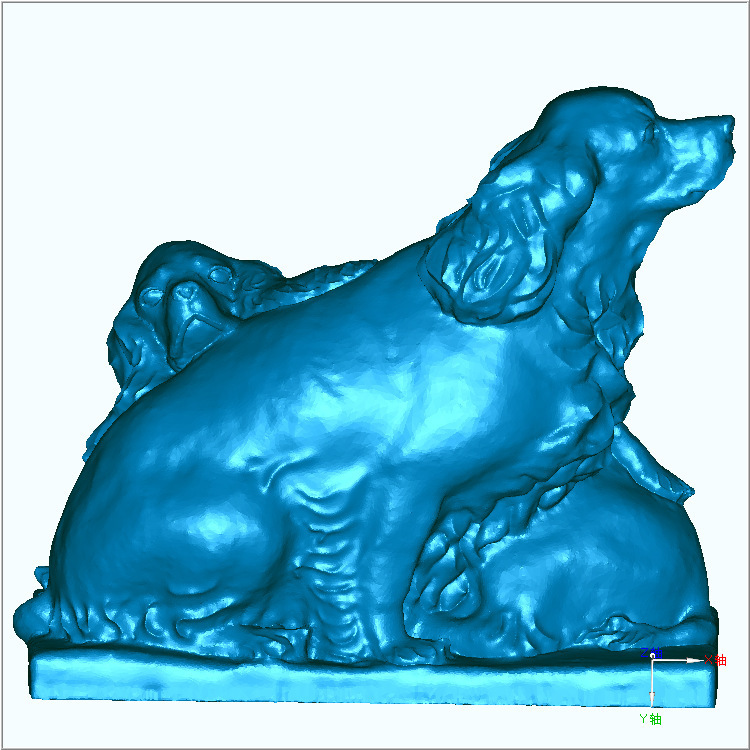 3D Carved Figure Sculpture 3d Model For Cnc Machine In STL File Format Dog