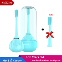 2 10 years old kid sonic electric toothbrush USB rechargeable for 360 degree electric children toothbrush replacement head
