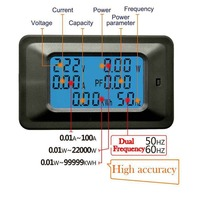 Amperimetro 20/100A Current Measuring Instrument Multi Functions Digital LCD Display ARM Processor Voltage Power Meter Monitor