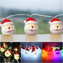 1.6/3M 10/20 Leds Santa Claus LED Fairy Lovely String Light Ornaments Xmas Tree Hanging For New Year Christmas Decoration(China)