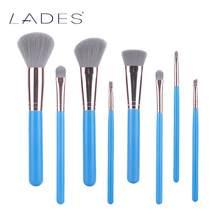 BELÄDT 8 stücke Vollen Satz Naive Blau Frauen Make-Up Pinsel Kit Überlegene Weiche Kosmetik Pinsel für Makeup-MB028