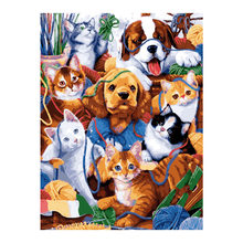 animal Moge Diamond Painting Full Round Lovely Dog cat New DIY Toy sticking drill cross embroidery 5D simple home decorative