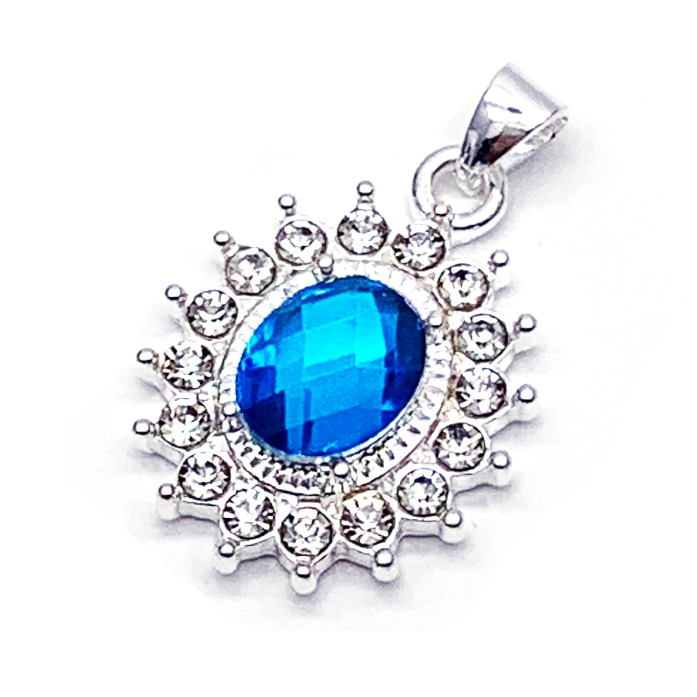 Fashion crystal pendant necklace classic sunflower...