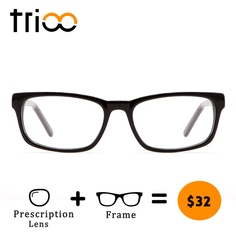 TRIOO Male Reading Glasses Clear Transparent Prescription Spectacles Optical Myopia 1.5 1.61 1.67 index Eye Glasses for men
