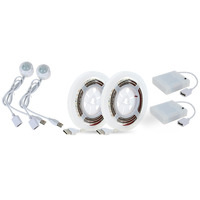 Hot Sale 2 Sets 1 2M USB Led Strip Smart PIR Sensor Motion Light Bulb USB