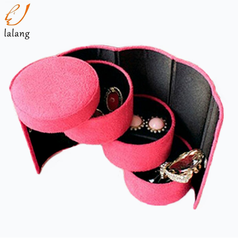 1PC Fashion 3 layer Jewelry Box Necklace Earring Ring Holder