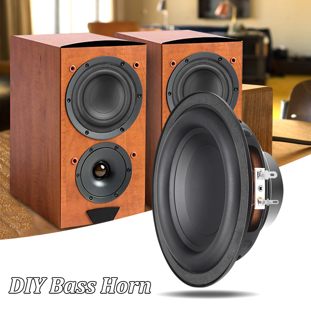 1pcs Subwoofer Speaker Unit 50W DIY Sound Box Loudspeaker ...