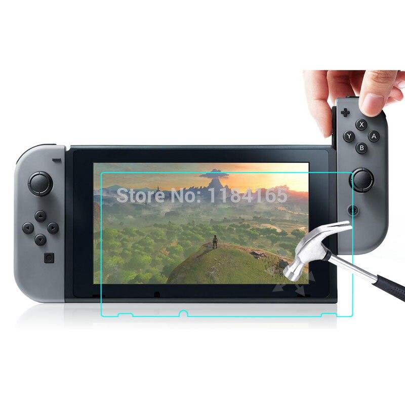 bilder für 10 teile/los Für Nintendo Schalter 9 H 2.5D Gehärtetem Glas Film Löschen explosionsgeschützte LCD Screen Protector pelicula de vidro