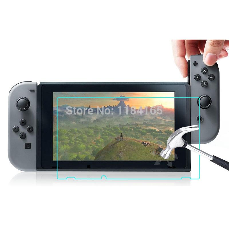 imágenes para 10 unids/lote Para Nintendo Interruptor 9 H 2.5D Vidrio Templado Film Transparente a prueba de Explosiones Protector de Pantalla pelicula de vidro